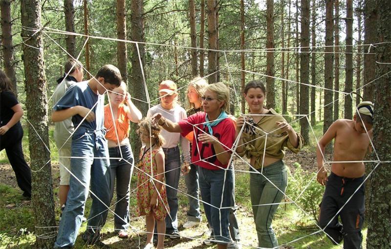 веревочный курс для детей